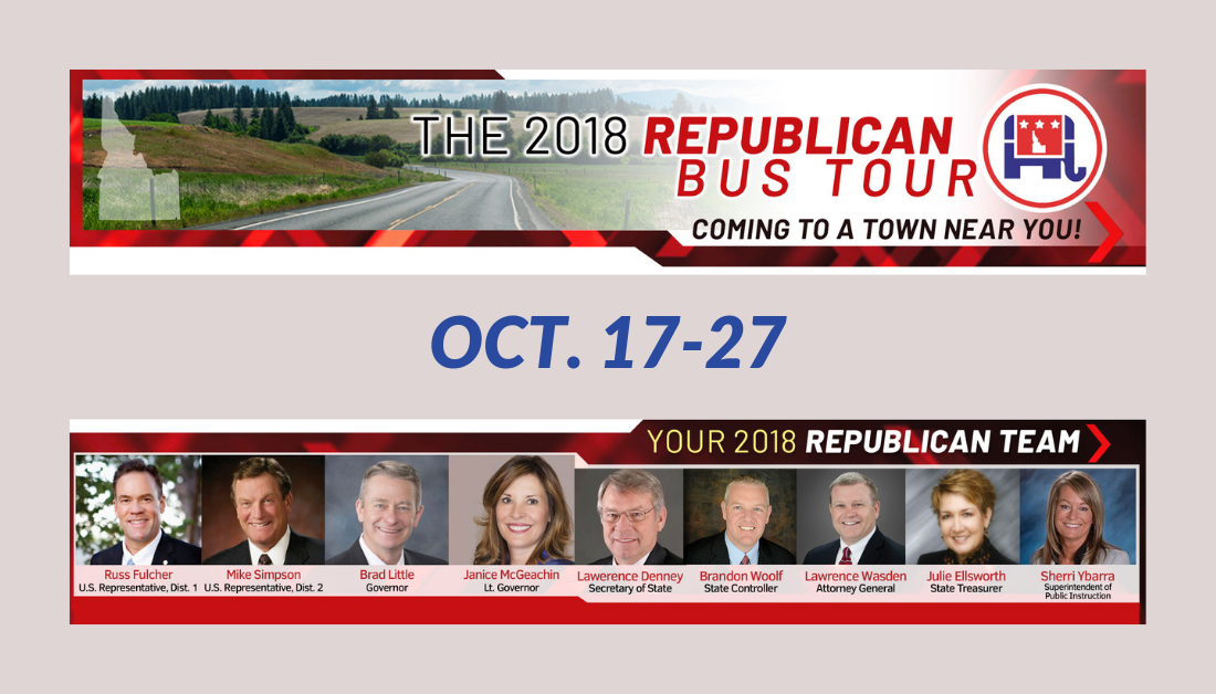 The 2018 Idaho Republican Bus Tour: Coming To a Town Near You!