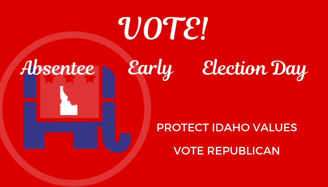 Vote By Absentee Ballot, Early Voting Or On Election Day. Above All: VOTE!